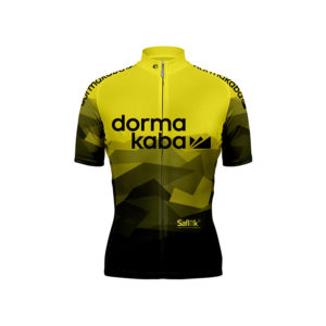team dorka yellow cycling shirt